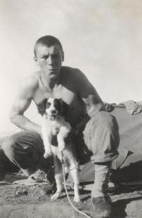 Kinsley and puppy,  Tunisia, Africa 1943 125.0155.1.jpg